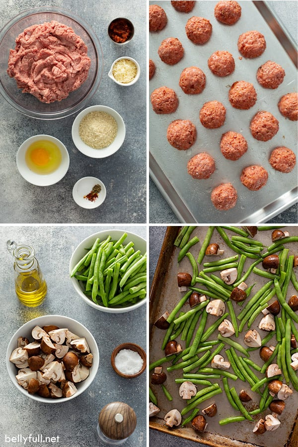 ingredient photos for baked ground turkey meatballs
