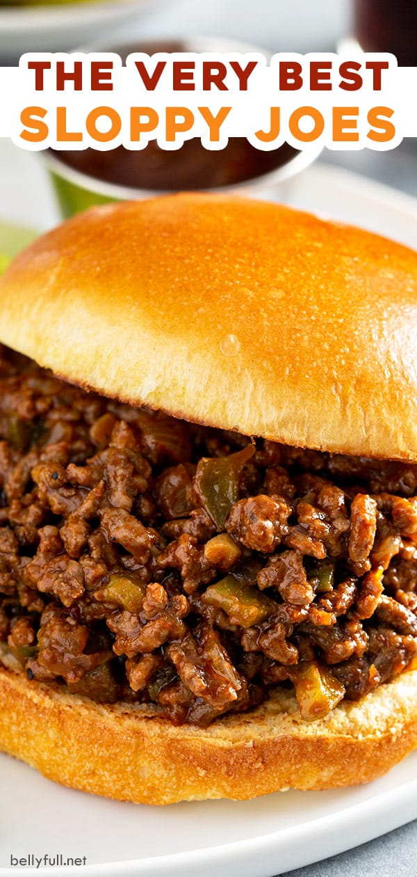 pin for homemade sloppy joes