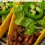 pin for oven baked sloppy joe tacos recipe