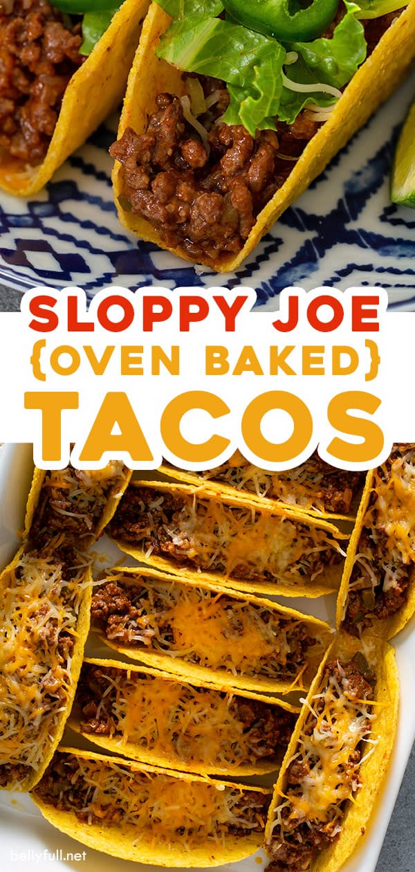 2 picture pin for oven baked sloppy joe tacos
