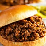 close up picture of sloppy joes
