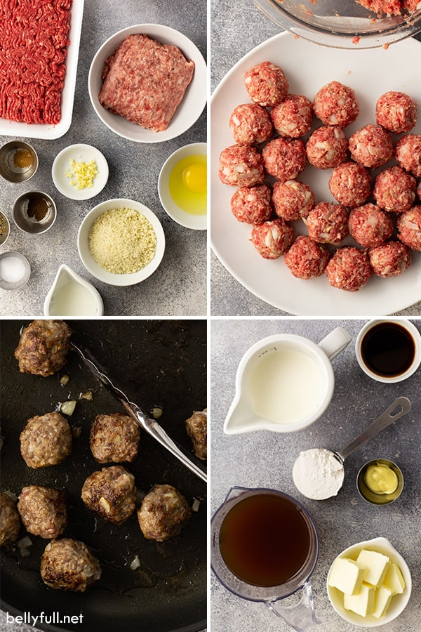 step by step process picture of Swedish Meatballs