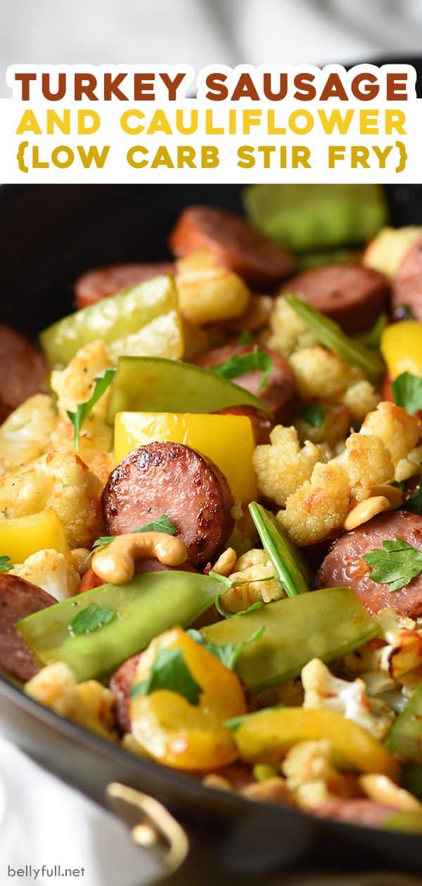 pin for turkey sausage and cauliflower stir fry