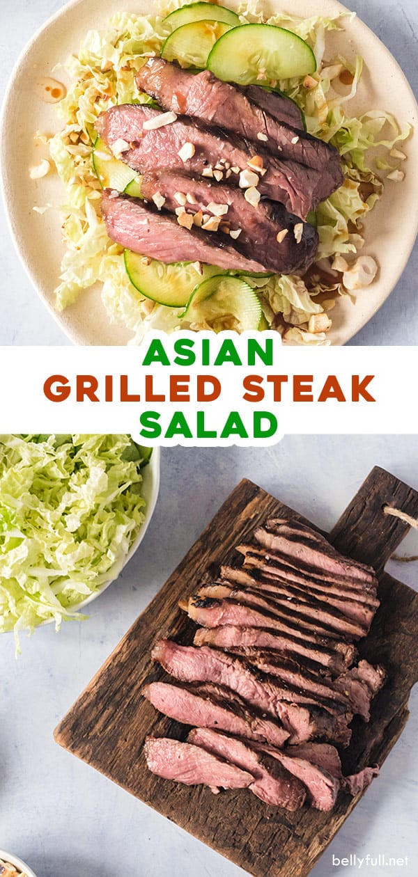 pin for asian grilled steak salad