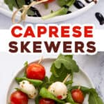 2 picture pin for caprese skewers