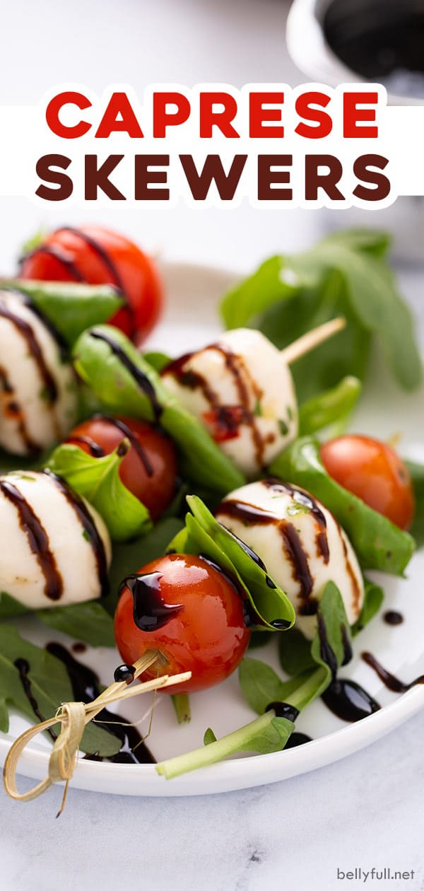 pin for caprese skewers recipe