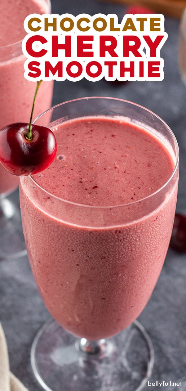 pin for chocolate cherry smoothie