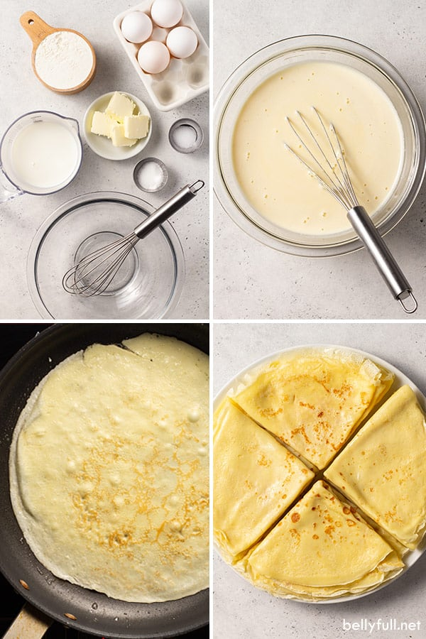 Perfect Homemade Crepes Belly Full