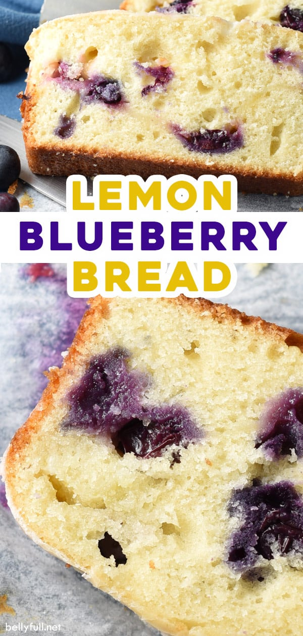 pin for lemon blueberry bread recipe