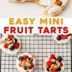 2 picture pin for mini fruit tarts