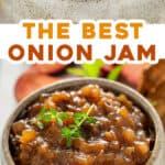 long pin for homemade prune onion jam recipe