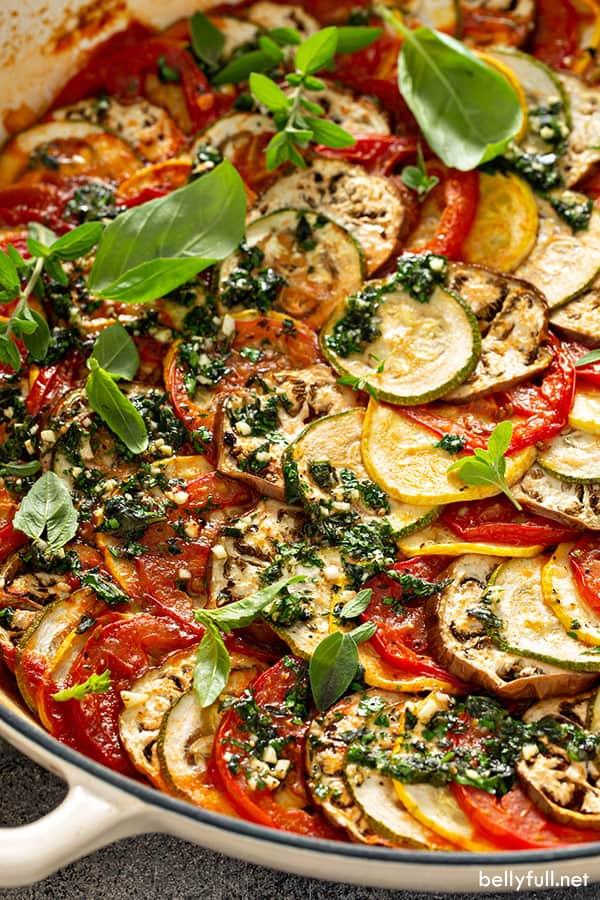 close up of cooked Ratatouille recipe