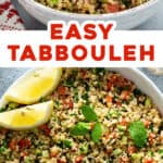 two picture pin for Tabbouleh