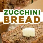long pin for homemade easy zucchini bread recipe