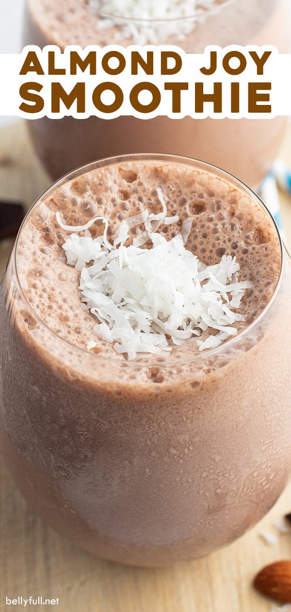 pin for almond joy smoothie recipe