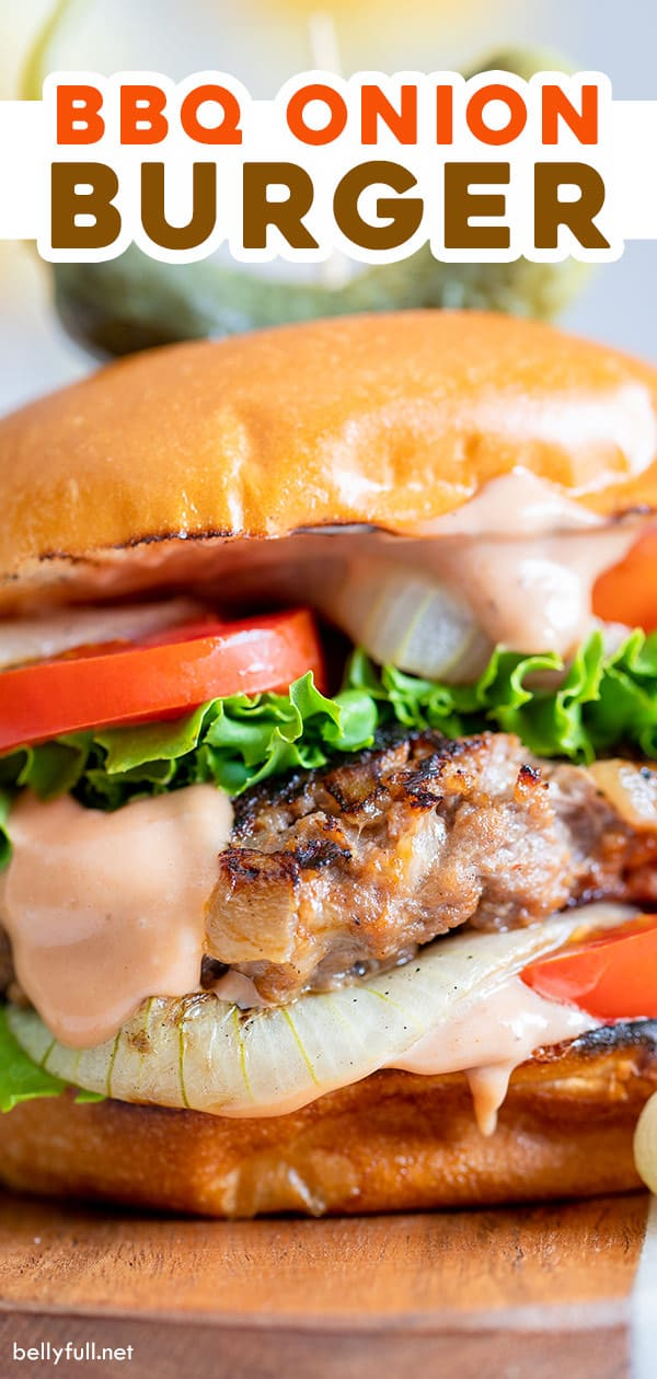 pin for onion burger recipe