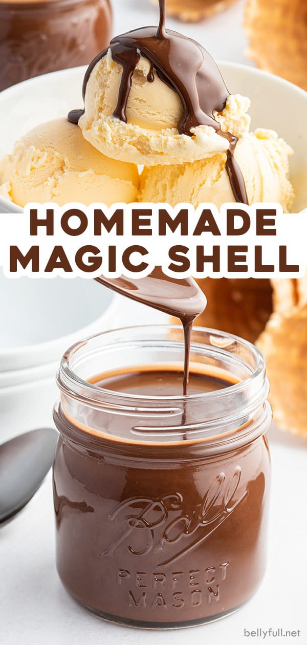 pin for Homemade Chocolate Magic Shell recipe