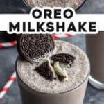 2 picture pin for Oreo milkshake recipe