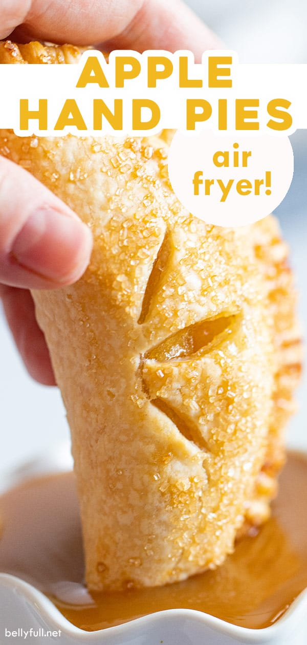 pin for air fryer apple hand pies recipe