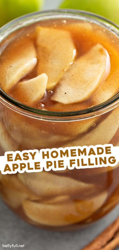 pin for homemade apple pie filling recipe