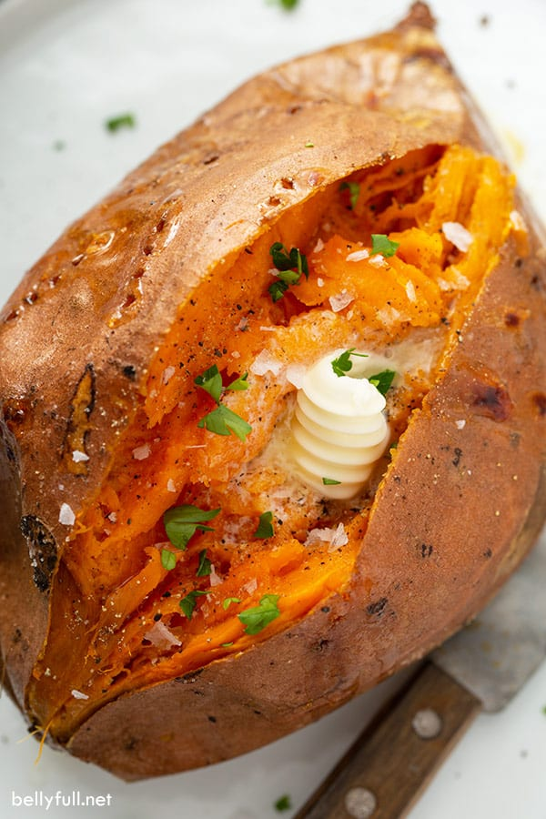 Perfectly Baked Sweet Potato How To Bake Sweet Potatoes