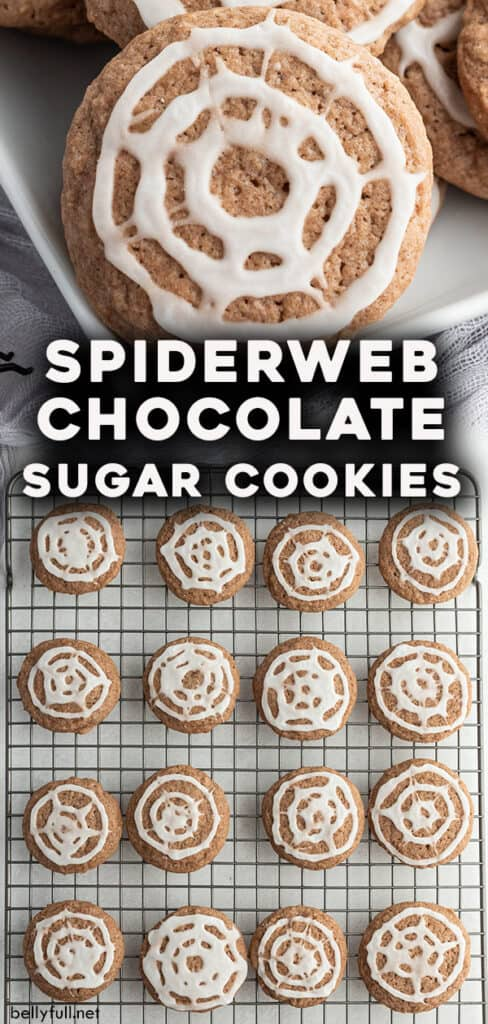 pin for Spiderweb Chocolate Sugar Cookies