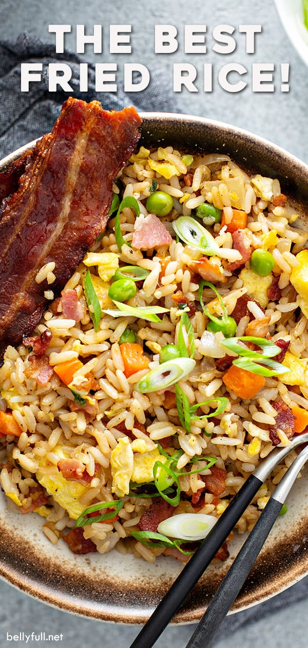 pin for homemade fried rice recipe