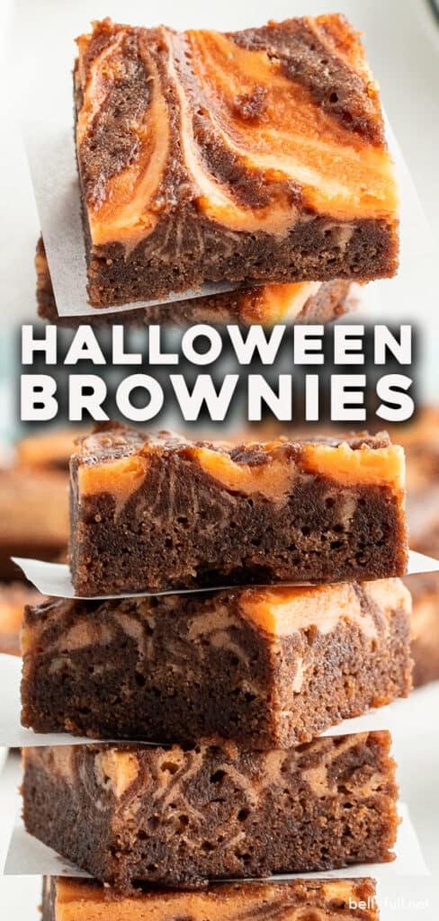 pin for halloween brownies recipe