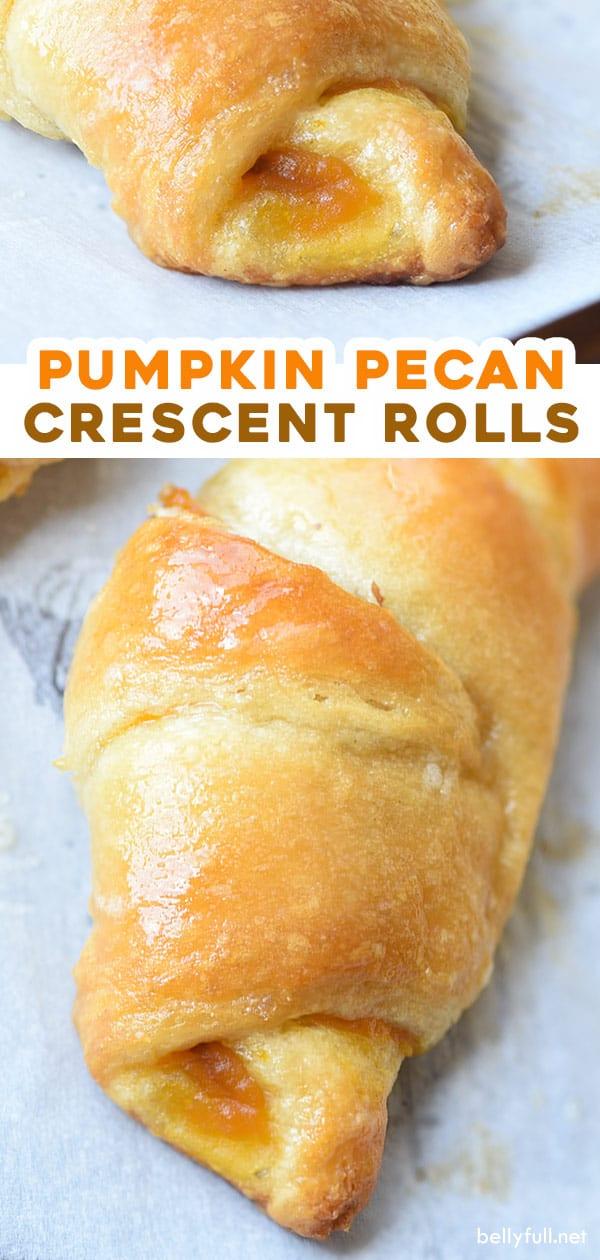 pin for pumpkin pecan crescent rolls