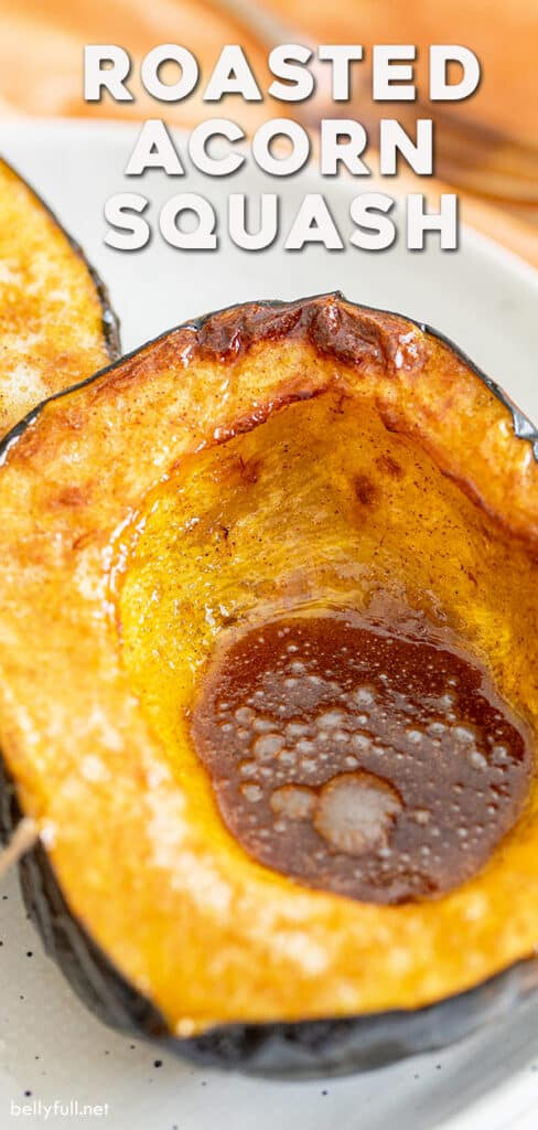 pin for roasted acorn squash recipe