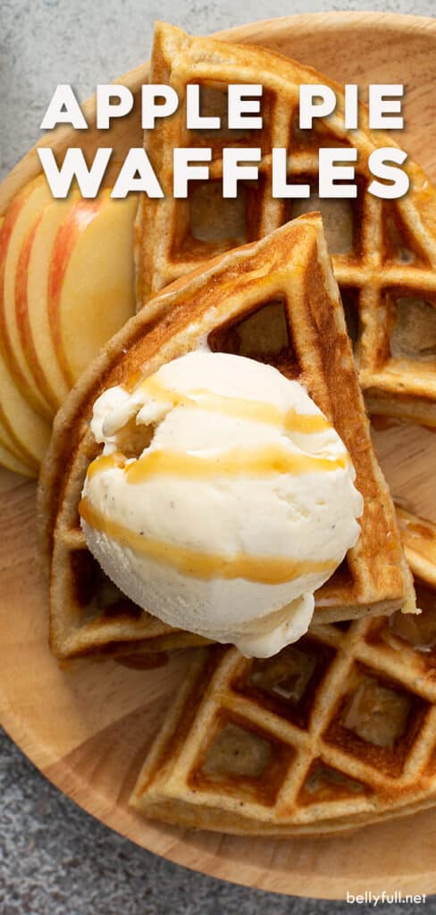 pin for apple pie waffles recipe