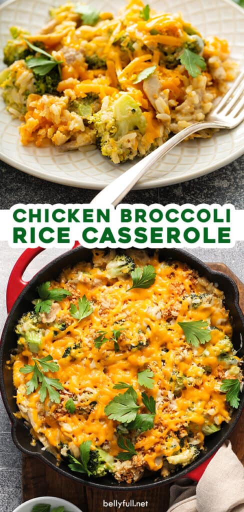 pin for chicken broccoli rice casserole recipe