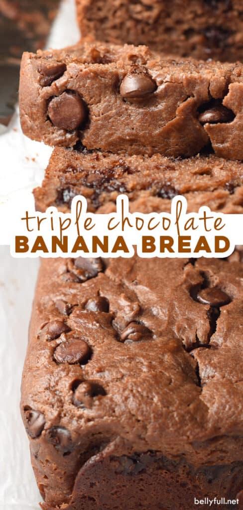 2 picture pin for chocolate banana bread recipe
