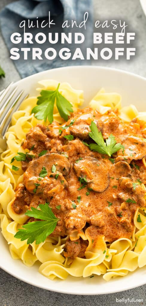 pin for ground beef stroganoff recipe