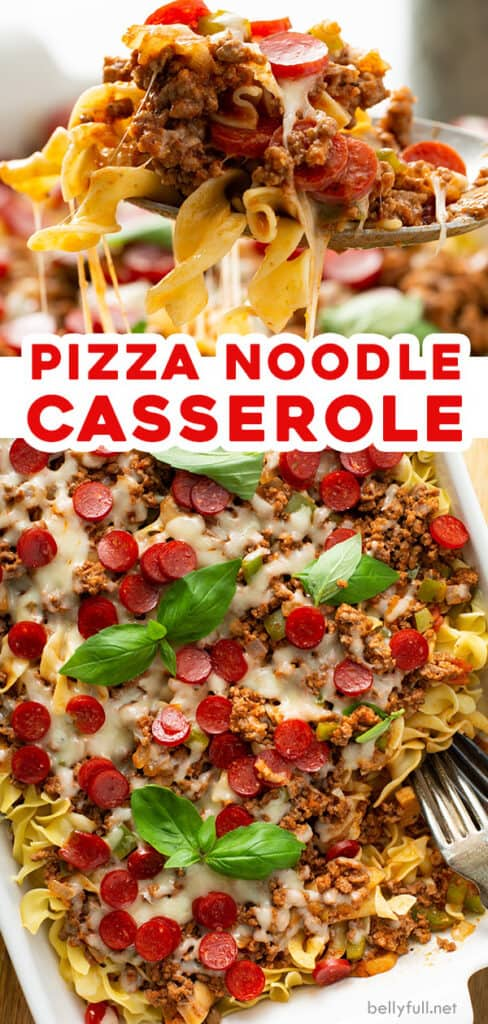 2 picture pin for pizza noodle casserole recipe