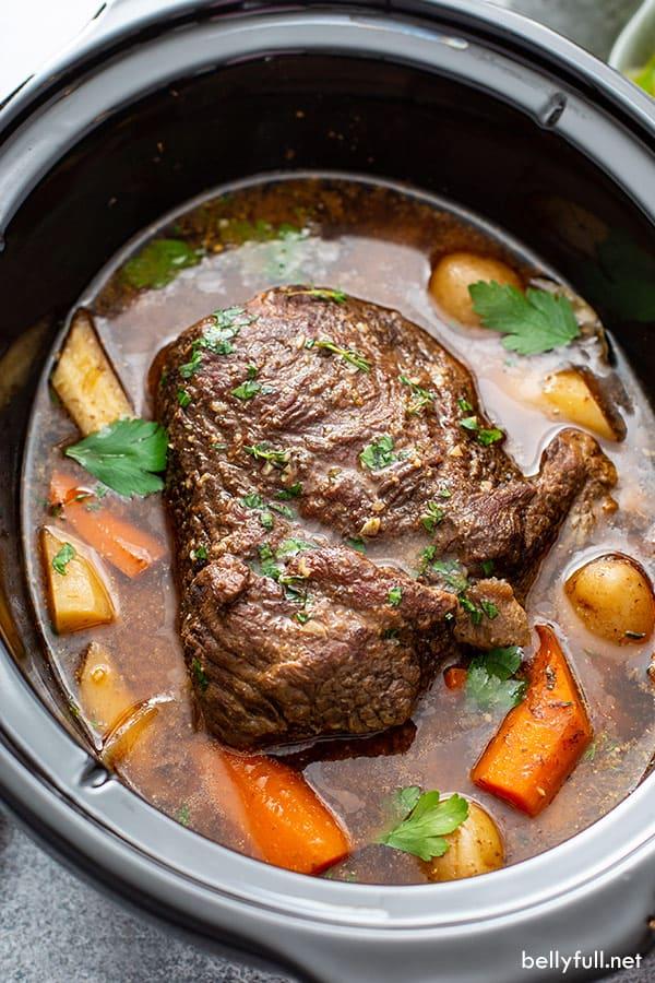Slow Cooker Pot Roast Belly Full