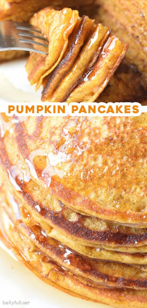 2 picture pin for pumpkin pancakes recipe