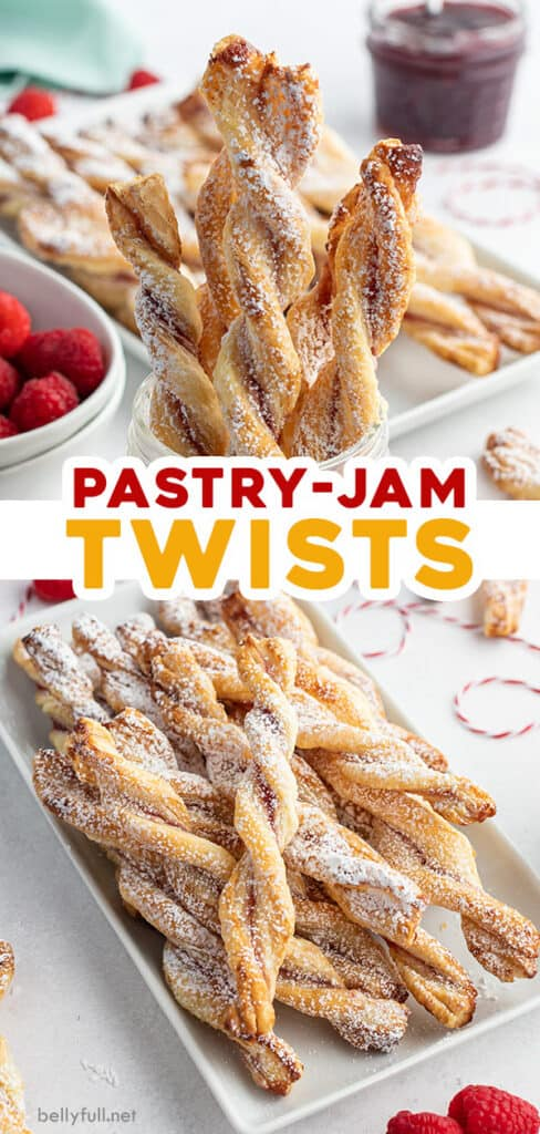 pin for jam puff pastry twists