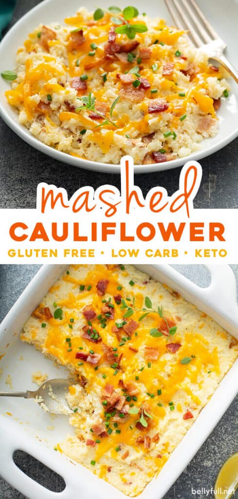 2 picture pin for mashed cauliflower casserole