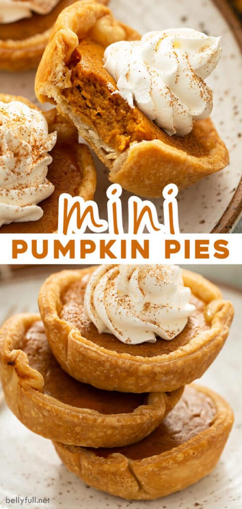 pin for mini pumpkin pie recipe