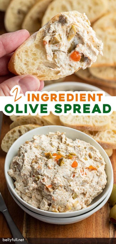 pin for olive spread recipe