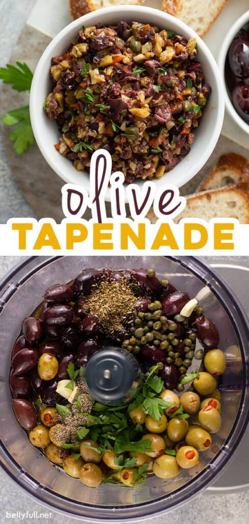 2 picture pin for Olive Tapenade recipe