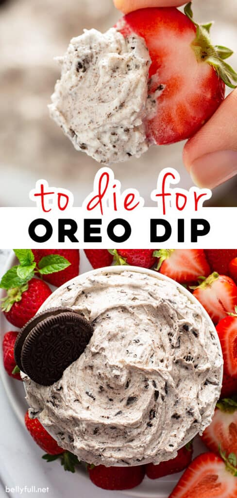pin for Oreo dip recipe