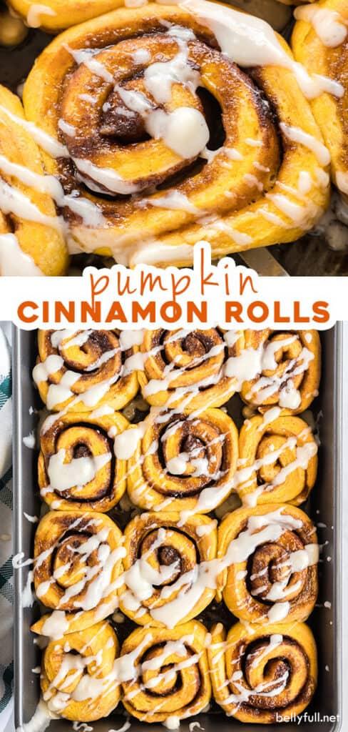 2 picture pin for pumpkin cinnamon rolls recipe