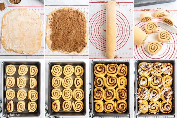 cinnamon rolls step by step photos