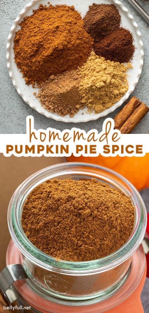 pin for homemade pumpkin pie spice