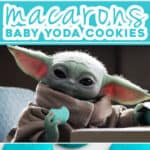 3 picture pin for baby Yoda macaroon cookies