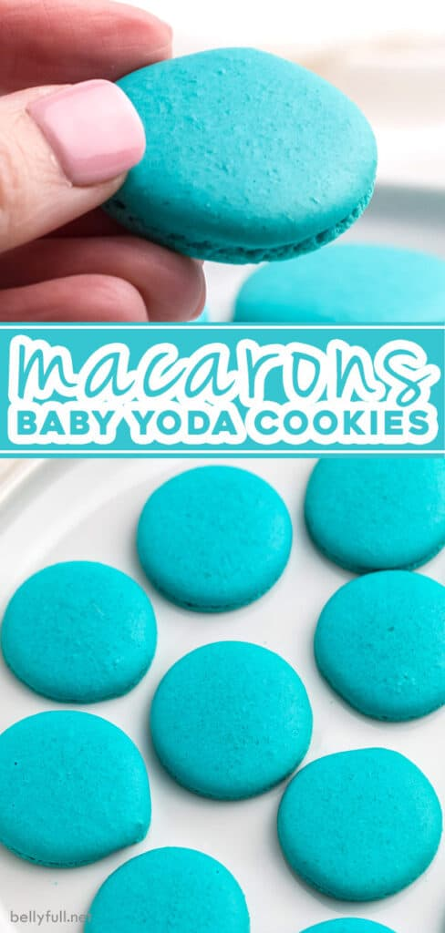 2 picture pin for baby yoda cookies