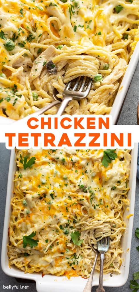 2 picture pin for Chicken Tetrazzini recipe
