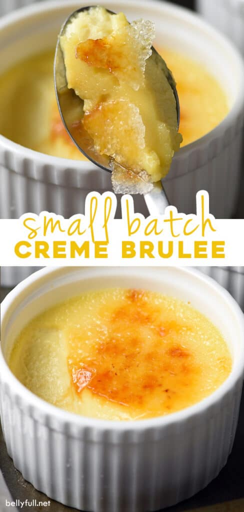 2 picture pin for homemade Creme Brulee